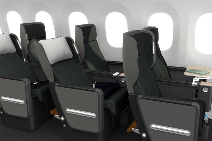 Obchodná trieda v Qantas Dreamliner Boeing 787-9