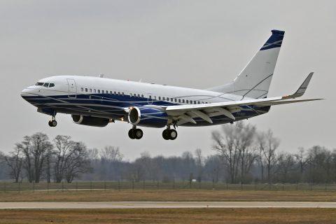 Boeing 737 BBJ  v Bratislave