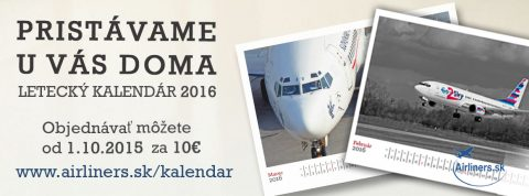 Kalendár Airliners.sk pre rok 2016