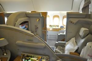 Pôvodné sedadlo prvej triedy Emirates