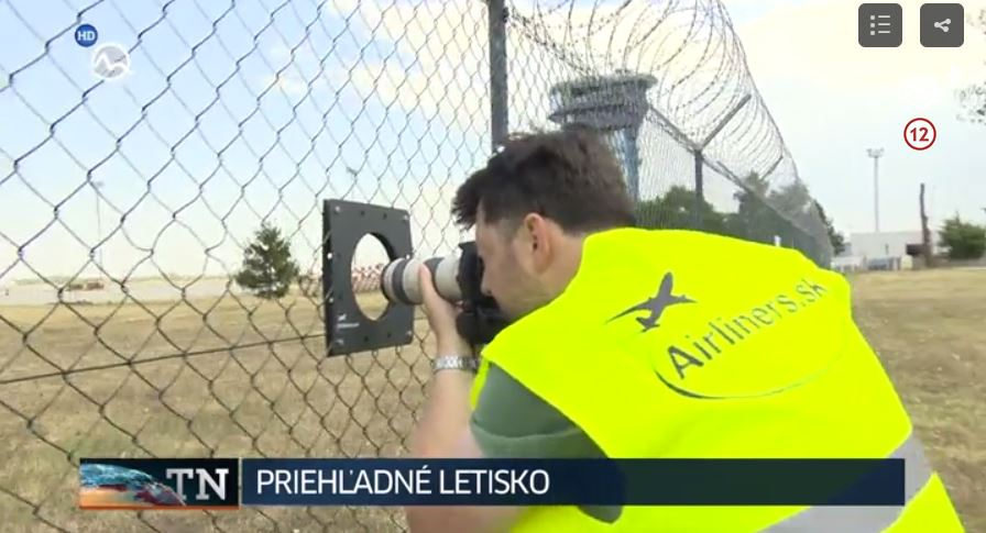 Priehľadné letisko - reportáž v TV Markíza