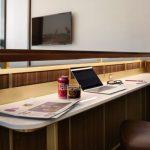 Pracovný stôl v TWA termináli (c)David Mitchell/TWA Hotel