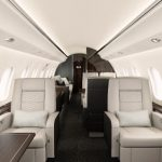 Interiér lietadla Bombardier Global 6000
