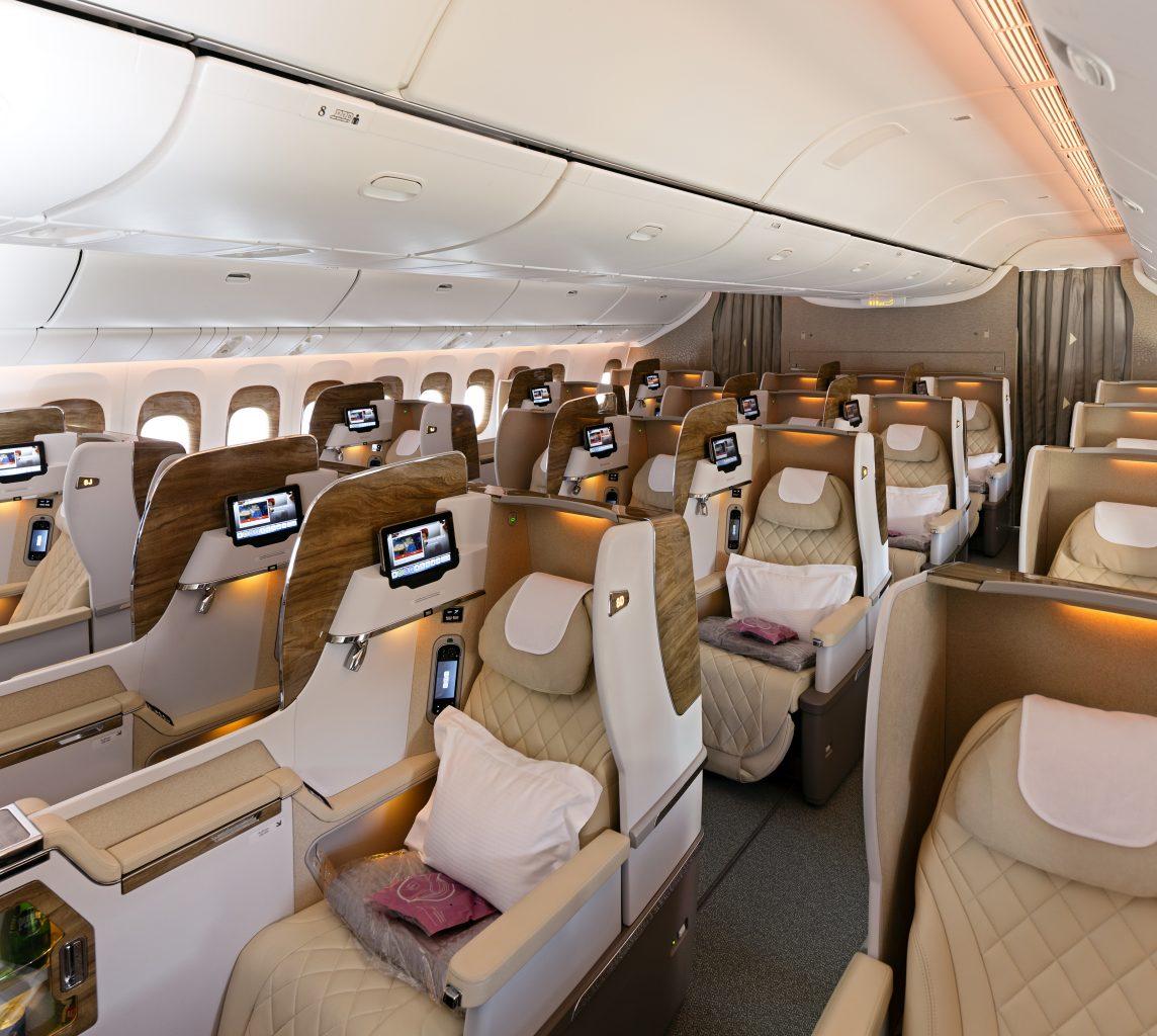 Nová obchodná trieda v Boeingu 777-300ER Emirates