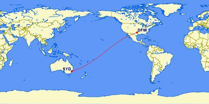 Qantas: Dallas (DFW) – Sydney (SYD)