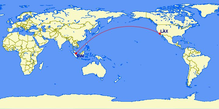 United Airlines: Los Angeles (LAX) – Singapore (SIN)