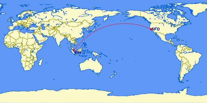 Singapore Airlines/United Airlines: San Francisco (SFO) – Singapore (SIN)