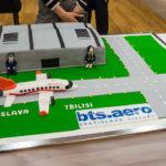 Torta v tvare letiska M.R.Štefánika v Bratislave