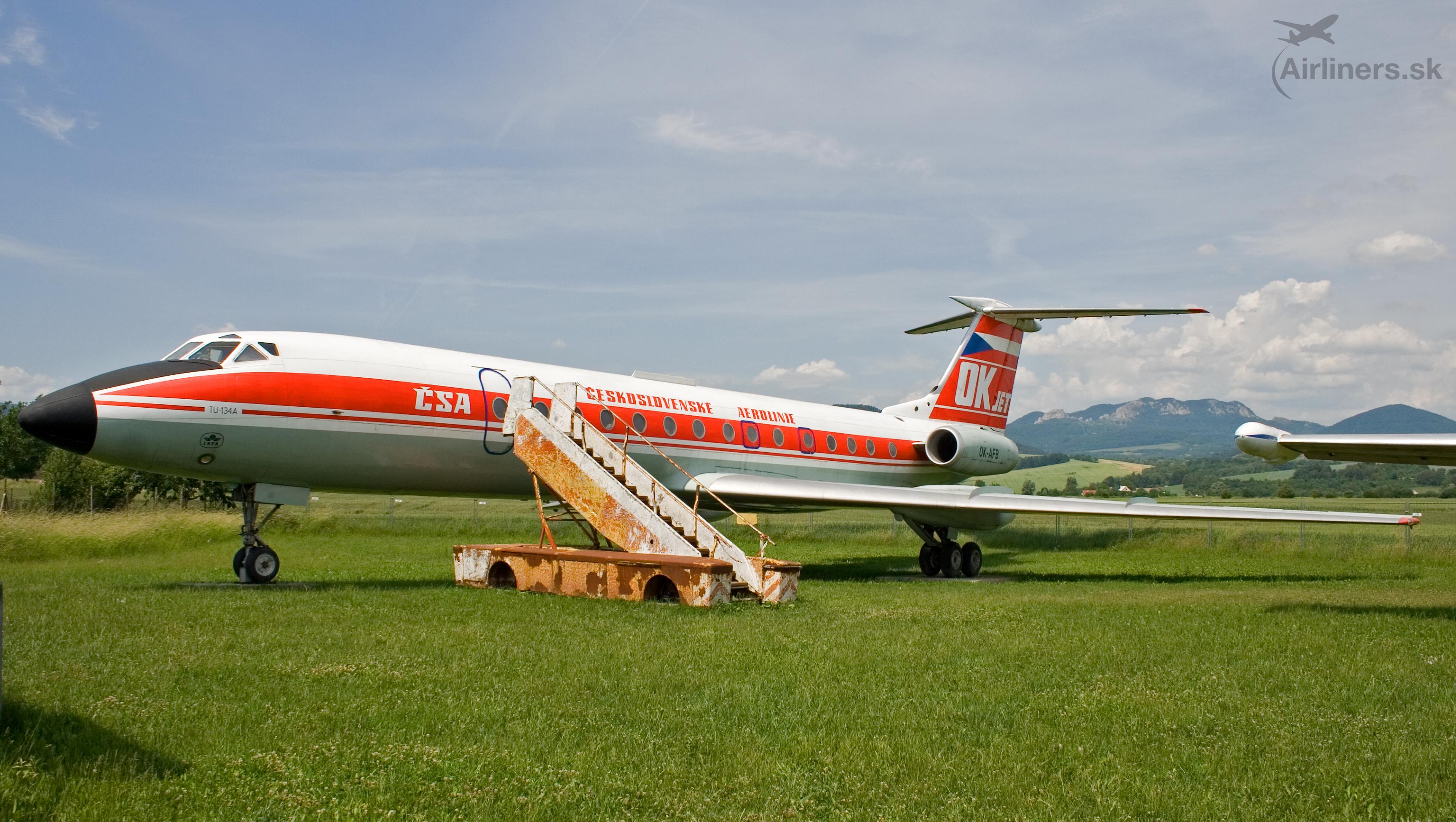 Tupolev Tu-134, OK-AFB