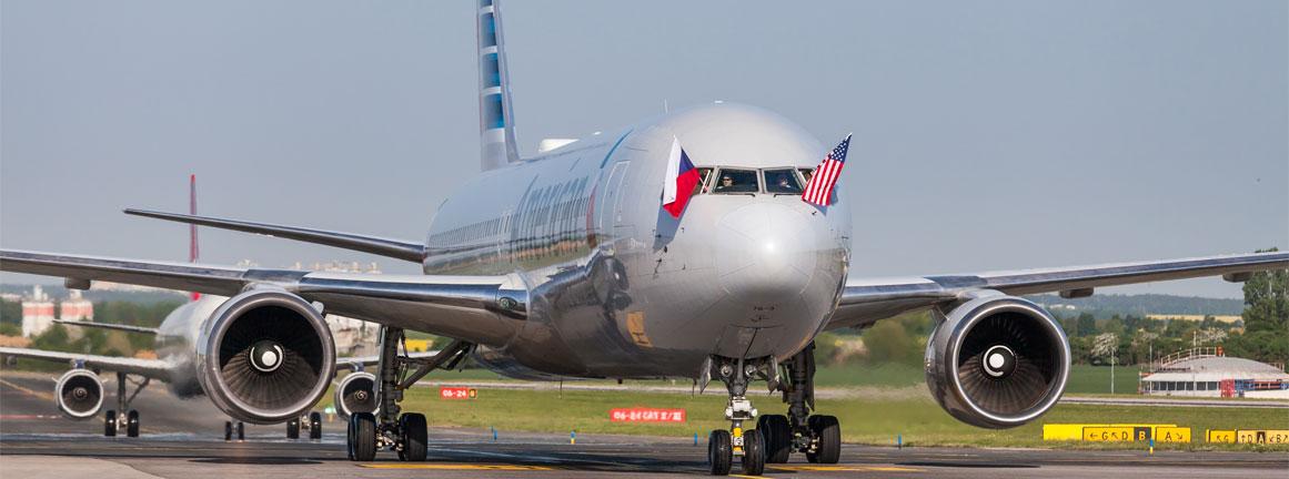 Prílet American Airlines z Filadelfie