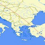 Mapa letu z Larnaky do Prahy