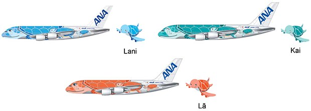 ANA Airbus A380 livery