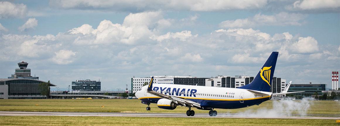 Ryanair na letisku v Prahe