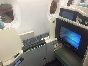 Sedadlo obchodnej triedy Korean Air