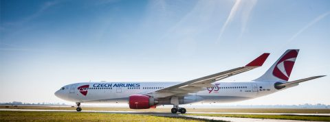 Airbus A330 ČSA opäť v Bratislave