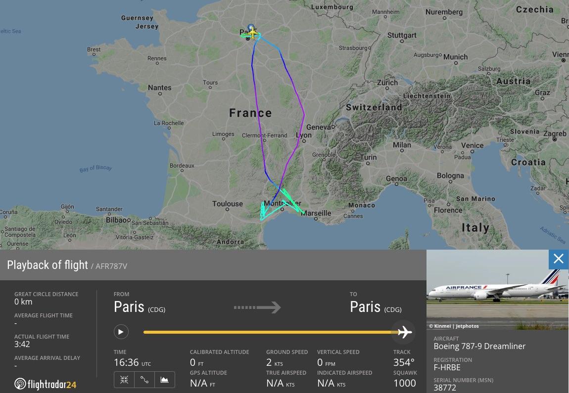 Natáčanie promovidea Air France (c) fr24.com