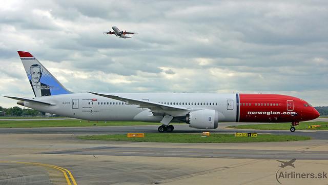 Boeing 787-9 Dreamliner leteckej spoločnosti Norwegian Air UK