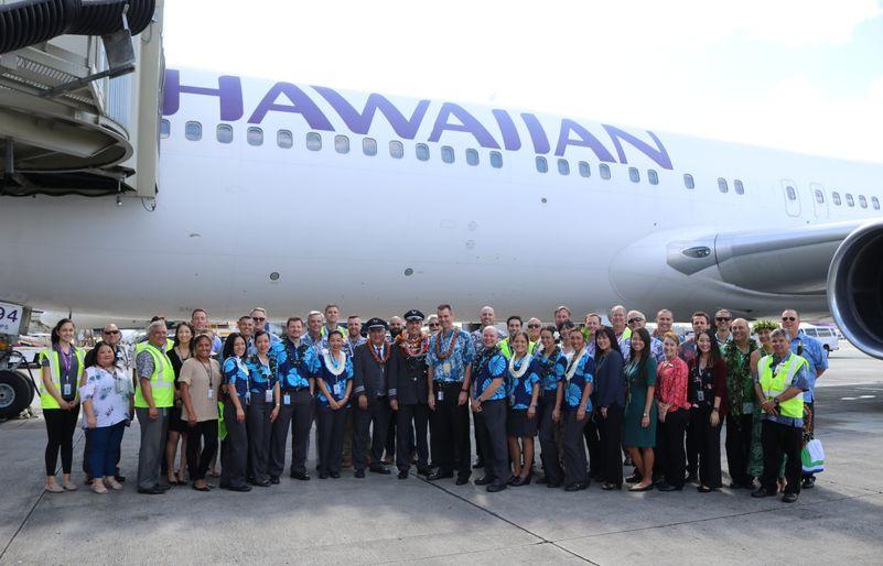Rozlúčková ceremónia na letisku v Honolulu (c) Hawaiian Airlines