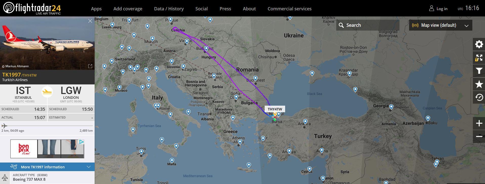 (c) flightradar24.com