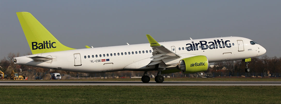 Airbus A220-300 Air Baltic (c)Prague Airport