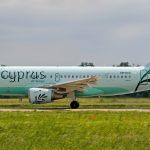 Prílet Airbusu Cyprus Airways