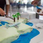 Torta pri príležitosti prvého letu Cyprus Airways z Larnaky