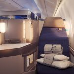 Business Class Seat in Boeing 767-300 United Airlines