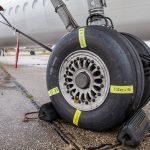 Detail podvozku Bombardier Dash 8 Q400
