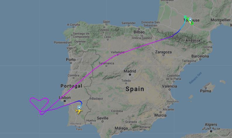 Posledný let Airbusu A380 Hi Fly (c)fr24.com