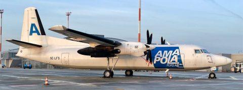 SE-LFS Amapola Flyg Fokker F50 Freighter cn 20216